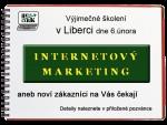 Pozvánka na internetový marketing dne 6. února 2014 v Liberci