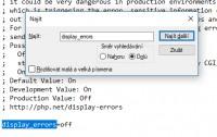 php.ini display errors
