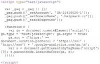 Měřící kód Google Analytics GATC