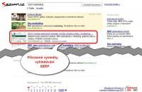 SERP výsledky přirozeného vyhledávání