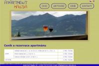 tvorba webu apartmán v Rakousku