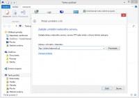 Zadejte umístění FTP serveru