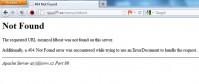Ukázka standardní chybové stránky 404 zaslané serverem