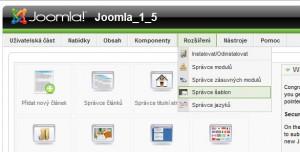 správce šablon Joomla 1.5