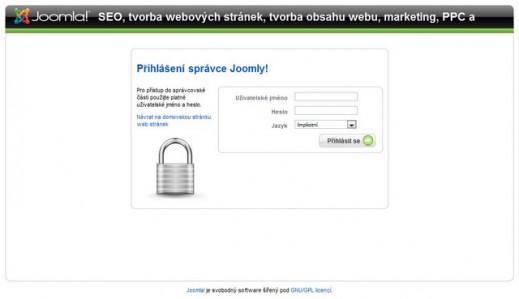 přístup do CMS Joomla